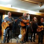 Singing with Buddy Mondlock, Mike Lindauer & others at Edgar's Place, 2016